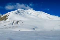 Ледник льда снега гор Памира холодный белый стоковое фото rf