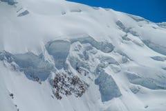 Ледник льда снега гор Памира холодный белый стоковое изображение rf