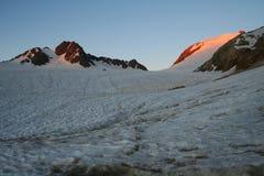 ледник над заходом солнца Стоковые Изображения RF