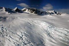 Ледник на южных Альпах, южный остров Fox, Новая Зеландия Стоковое фото RF