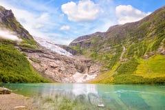 Ледник Boyabreen в Норвегии Стоковая Фотография RF