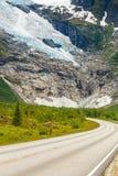 Ледник Boyabreen в Норвегии Стоковое Изображение RF