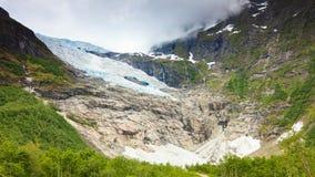 Ледник Boyabreen в Норвегии Стоковое Изображение