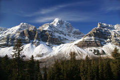ледник crowfoot вися mt Стоковые Фотографии RF