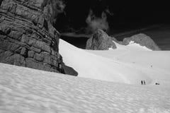 ледник dachstein вниз стоковые изображения