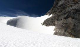 ледник dachstein вниз стоковое изображение rf