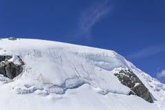 Ледник Grigia Testa стоковое изображение