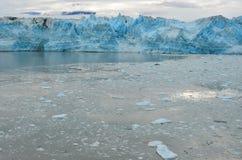 Ледник Hubbard, Аляска & Юкон Канада Стоковые Изображения RF