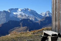 Ледник marmolada стоковое фото rf