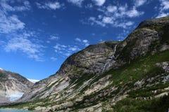 Ледник Nigardsbreen в Норвегии в летнем времени стоковое фото rf