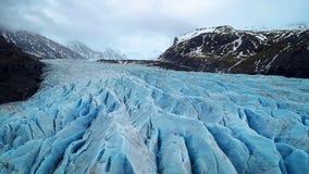 Ледник Skaftafell, национальный парк Vatnajokull в Исландии стоковое фото