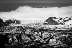 Ледник Skaftafellsjokull, в Skaftafell, Исландия в лете на s Стоковые Фото
