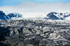 Ледник Skaftafellsjokull, в Skaftafell, Исландия в лете Стоковые Фотографии RF