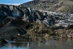 Ледник Skaftafellsjokull, в Skaftafell, Исландия в лете Стоковые Изображения RF