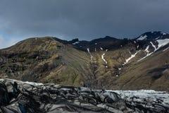 Ледник Skaftafellsjokull, в Skaftafell, Исландия в лете, moo Стоковое Изображение RF