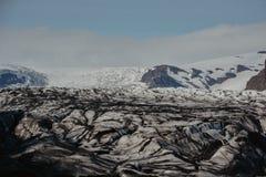 Ледник Skaftafellsjokull, в Skaftafell, часть gl Vatnajokull Стоковые Изображения
