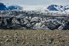 Ледник Skaftafellsjokull, часть национального парка Vatnajokull Стоковое фото RF
