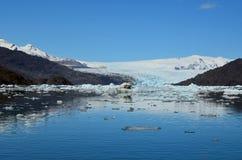 Ледник Steffen в поле льда Campo de Hielo Sur южном патагонском, чилийской Патагонии Стоковая Фотография