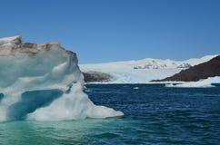 Ледник Steffen в поле льда Campo de Hielo Sur южном патагонском, чилийской Патагонии Стоковое Изображение