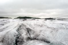 Ледник Vatnajokull большой с горами льда стоковые изображения rf