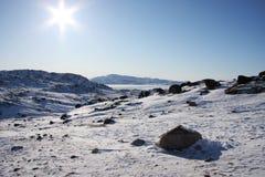 ледовитая глушь Гренландии Стоковое Изображение RF