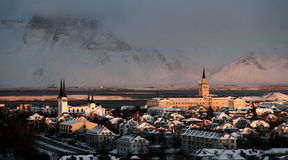 Ледовитая зима Солнце Стоковое Фото