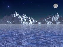Ледовитая ноча стоковая фотография rf