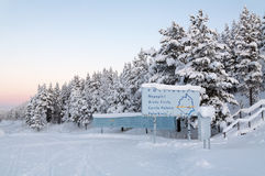 Ледовитый круг около Jokkmokk, Швеци Стоковые Фотографии RF