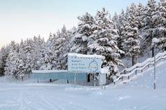 Ледовитый круг около Jokkmokk, Швеци Стоковые Фото