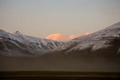 ледовитый ландшафт вечера стоковые изображения rf