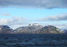 Ледовитый ландшафт в Шпицбергене (Шпицберген) Стоковые Изображения RF