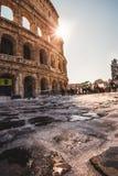 Лед и снег булыжника Колизея стоковые фотографии rf