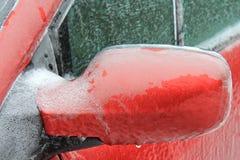 Лед на автомобиле Стоковые Изображения
