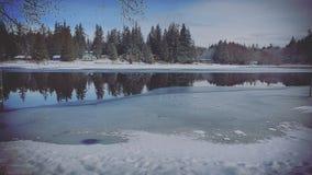 Лед проползать стоковая фотография