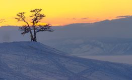 Лед Lake Baikal, России марта 2018 Стоковое фото RF