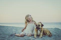 Лежать в пляже Стоковая Фотография