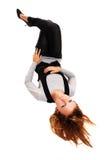 лежать девушки пола Стоковые Фото