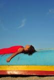 лежать девушки Стоковое Изображение RF