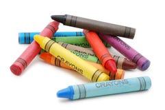 лежать crayons беспорядка Стоковые Фотографии RF