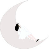 лежа женщина луны Стоковые Изображения