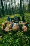 лежа женщины Стоковая Фотография RF