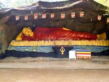 Лежа диаграмма Будды в Азии Стоковые Фотографии RF