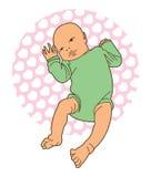 Лежа младенец Стоковая Фотография