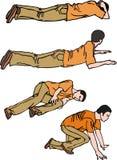лежа человек Стоковое Изображение