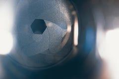 Лезвие апертуры конспекта объектива фотоаппарата Стоковые Фотографии RF
