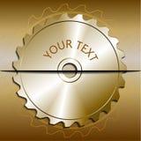 Лезвие круглой пилы на металлической предпосылке иллюстрация штока
