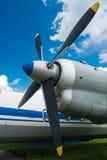 Лезвия авиационного двигателя Стоковая Фотография