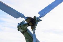 Лезвия зеленого крупного плана вертолета Стоковое Изображение RF