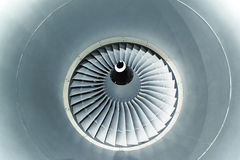 Лезвия турбины самолетного двигателя Стоковые Фото