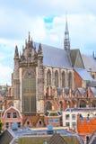 Лейден, Голландия, взгляд церков Pieterskerk воздушный Стоковая Фотография RF